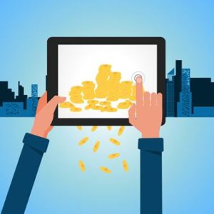 Financial Concept Make Money from internet with tablet